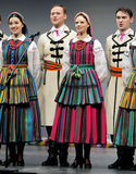 National dance troupe of Poland - Mazowsze Stock Image
