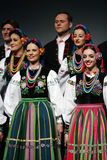National dance troupe of Poland - Mazowsze Royalty Free Stock Images