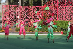 National dance -walk on stilts in shenzhen,china,asia Royalty Free Stock Images