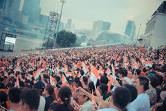 National day audience Stock Image