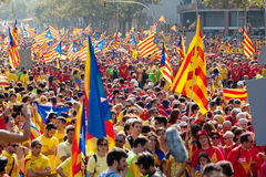 The National Day of Catalonia. Barcelona Royalty Free Stock Images