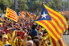 He National Day of Catalonia in Barcelona, Spain Royalty Free Stock Photos