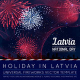 National Day of Country in Blending Lines Style with Fireworks. Vector Royalty Free Stock Photography