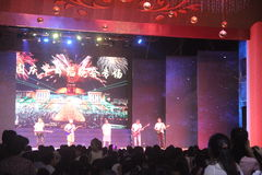 National Day dance party concert in Shenzhen window of the world theme park Royalty Free Stock Photo