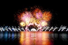 National Day Fireworks. In Australia royalty free stock images