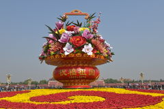 National Day flower basket in Tiananmen Square Royalty Free Stock Images