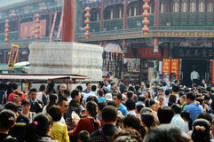 National  day holiday. Huge of crowds of people in the street during holiday Royalty Free Stock Photos
