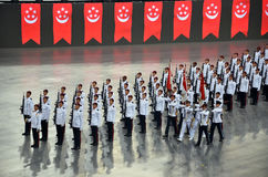 National Day Parade Rehearsal 2016 in Singapore Stock Photo