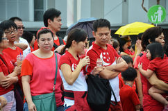 National Day Parade Rehearsal 2016 in Singapore Stock Photography