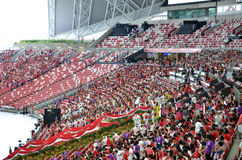 National Day Parade Rehearsal 2016 in Singapore Royalty Free Stock Photography