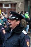 National Day parade. TIMISOARA, ROMANIA - DECEMBER 1, 2017: National Day parade in Romania. Bobby police Stock Photos
