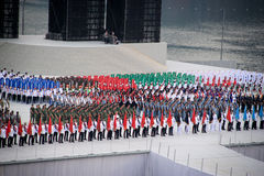 National day rehearsal Royalty Free Stock Image