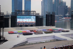 National day rehearsal Royalty Free Stock Images