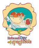 National day of spaghetti Stock Image