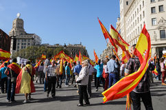 National Day of Spain in Barcelona Royalty Free Stock Images