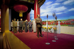 National Day WAX FIGURE. In Dalian Golden Pebble Beach Wax Museum Stock Image