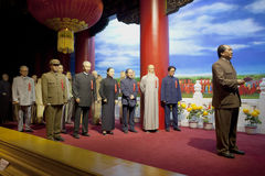 National Day WAX FIGURE. In Dalian Golden Pebble Beach Wax Museum Royalty Free Stock Images