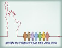 National Day of women of color Stock Image