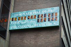 The National Debt Clock. In New York city royalty free stock photo