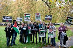 National Demo: Justice Now - Make it right for Palestine London Stock Photography