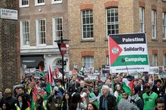 National Demo: Justice Now - Make it right for Palestine London Royalty Free Stock Images