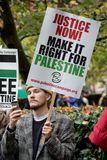 National Demo: Justice Now - Make it right for Palestine London Royalty Free Stock Photo