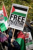 National Demo: Justice Now - Make it right for Palestine London Royalty Free Stock Photos