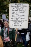 National Demo: Justice Now - Make it right for Palestine London. 4th November 2017, London, United Kingdom:-Pro Palestine demonstrators march through London Stock Photo