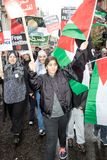 National Demo: Justice Now - Make it right for Palestine London. 4th November 2017, London, United Kingdom:-Pro Palestine demonstrators march through London Royalty Free Stock Photography
