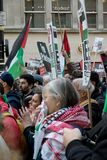 National Demo: Justice Now - Make it right for Palestine London. 4th November 2017, London, United Kingdom:-Pro Palestine demonstrators march through London Royalty Free Stock Image