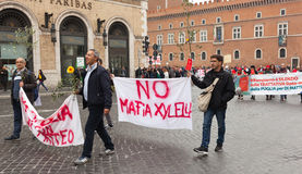 National demonstration in support of Nino Di Matteo Stock Photography