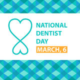 National dentist day. March, 6, vector poster Royalty Free Stock Photo