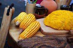 The national dish of mamaliga Stock Image