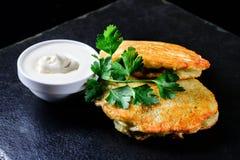 National dish potato pancakes royalty free stock photography