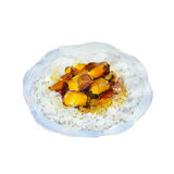 The national dish rice with curry isolated on white background, watercolor illustration. The national dish rice with curry isolated on white background Royalty Free Illustration