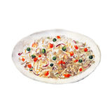 The national dish veg fried rice on white background, watercolor illustration Stock Photo