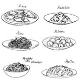National dishes set Stock Photography