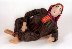 National doll4. National doll. Laying woman. Turkmenistan Stock Photography