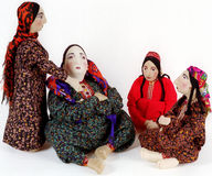 National doll9. National doll. Sitting women. Turkmenistan Royalty Free Stock Photography