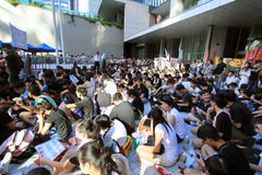 National education raises furor in hong kong Stock Photography