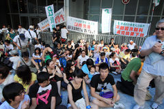 National education raises furor in hong kong Stock Image