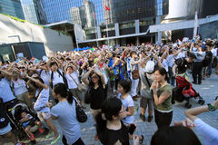 National education raises furor in hong kong Stock Images