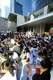 2012 National education raises furor in hong kong Stock Photography