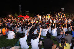 'National Education' Stirs Protests in Hong Kong Royalty Free Stock Images