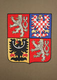 National Emblem of Czech Republic. Emblem Czech Republic on seat in the Permanent Court of Arbitration at The Hague, Netherlands Royalty Free Stock Photo