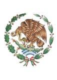 National Emblem of Mexico isolated on White royalty free stock image