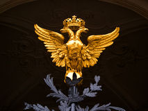 National Emblem of Russia Country. On gate of the Hermitage Museum Stock Images