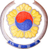 National Emblem of South Korea stock photography