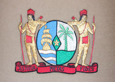 National Emblem of Suriname Royalty Free Stock Photo