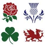 National emblems. United Kingdom national emblems isolated on white background Stock Photo